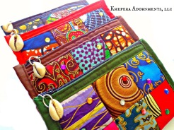 African print coin bags