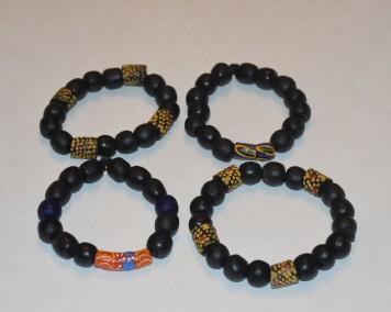 Black krobo bracelet 1