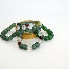 Green krobo bead bracelet 2