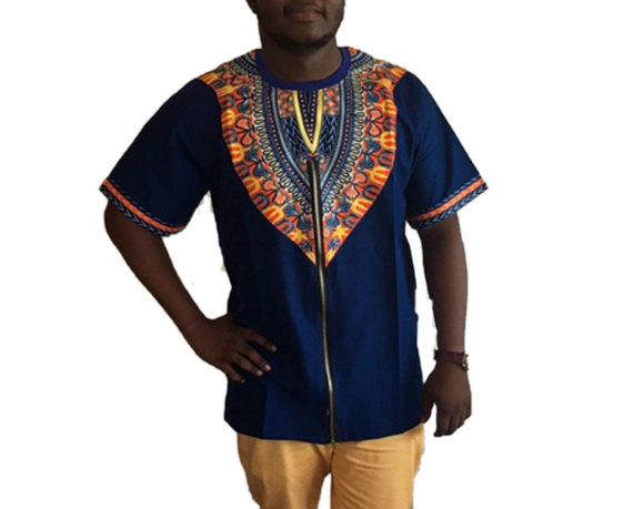 Blue men's shirt 1