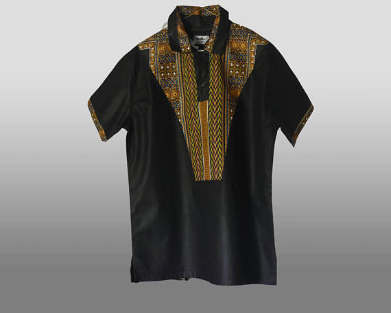 Black Ankara Shirt 1