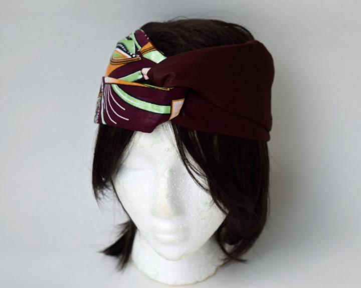 Brown ankara headband 1
