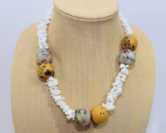 Chipped Beads Necklace