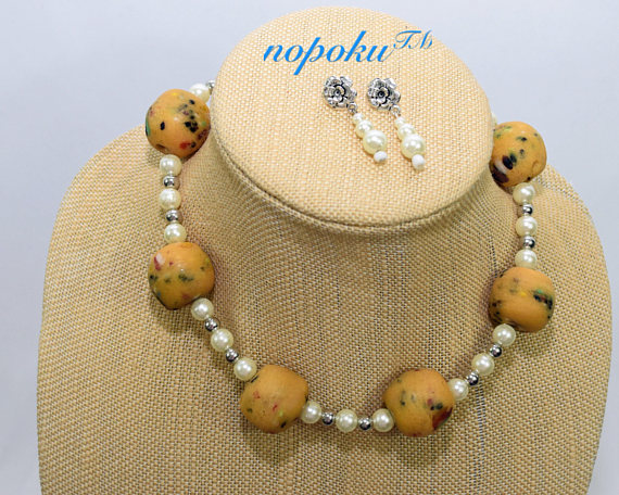 Earth Bead Necklace 1